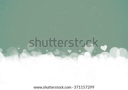 Valentine's day. green background. - stock photo