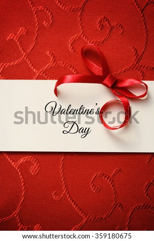 Valentine's Day greeting card - stock photo