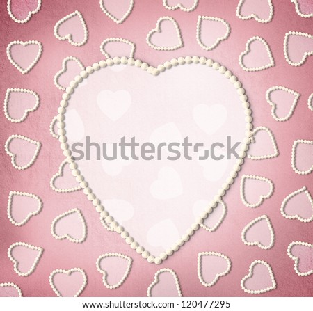 Valentine's day greeting card template