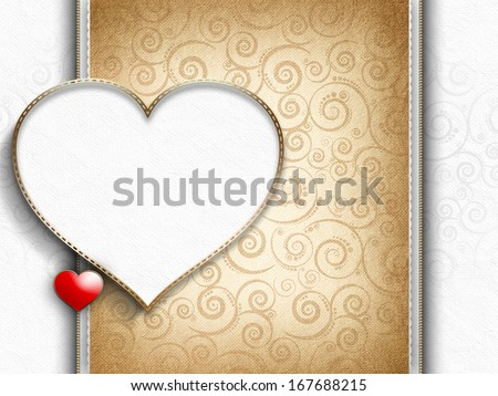 Valentine's Day - greeting card template