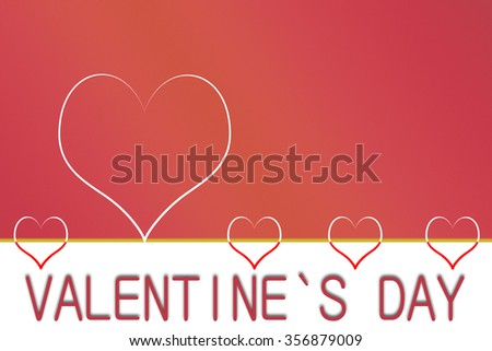 Valentine`s day heart illustration with copyspace - stock photo