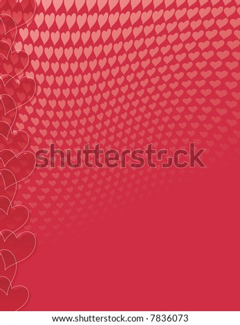 valentine's day heart pattern in red and pink - stock photo