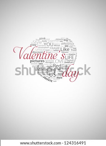 Valentine's day heart typography - stock photo