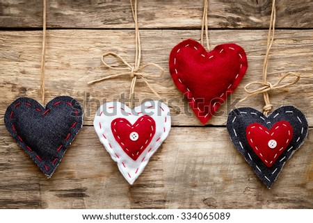 valentine's day love heart card - stock photo