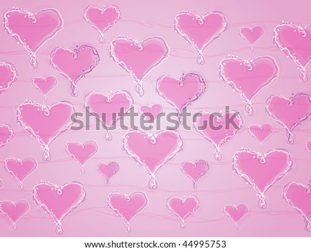 Valentine's Day Love Heart Gift Paper