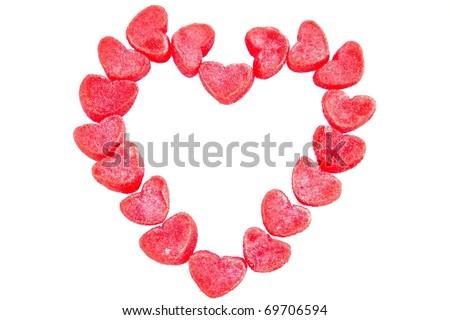 Valentine's Day Marshmallow hearts - stock photo