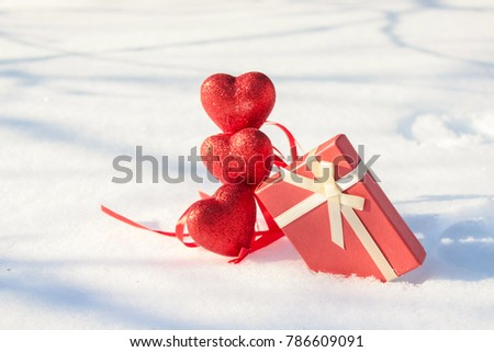 Valentine's Day on winter day