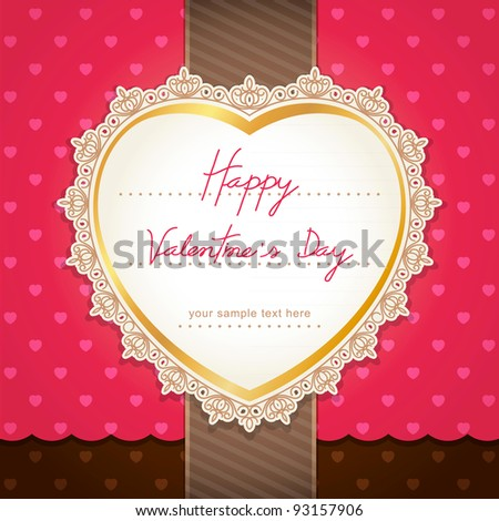 Valentine's day or wedding card design(jpg).  vector version also available