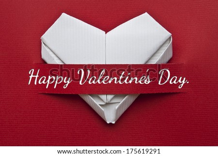 Valentine's day postcard or poster. I love you message, heart  - stock photo