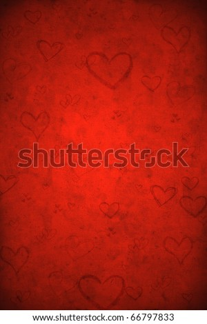 Valentine's day red background - stock photo