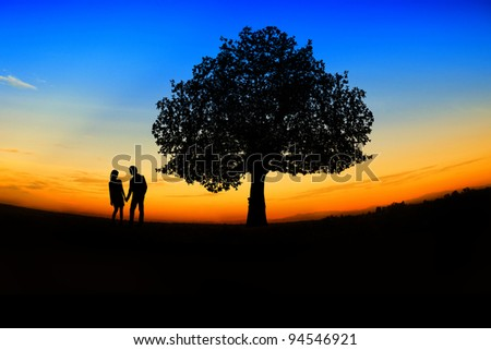valentine's day,romantic Scene of love - stock photo