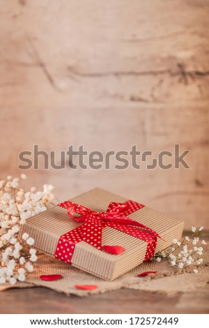Valentine's day time with small gift