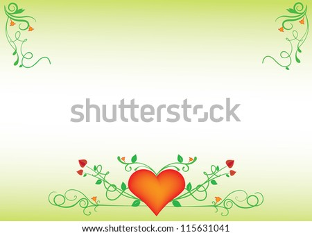 Valentine's floral background, letterhead or wallpaper