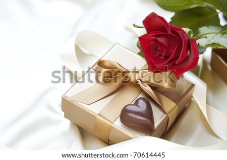 Valentine's Gift.Chocolate heart