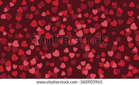 Valentine's hearts wide background.  - stock photo