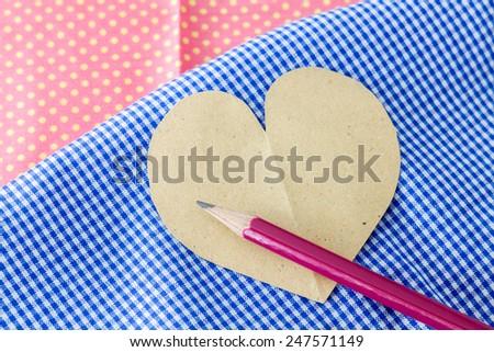valentine's paper hearts - stock photo