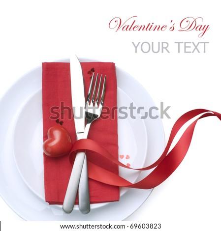 Valentine's Romantic Dinner concept - stock photo