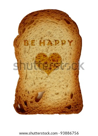 valentine`s toast - stock photo