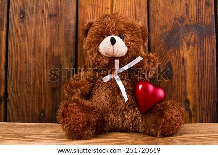 Valentine Teddy Bear. - stock photo