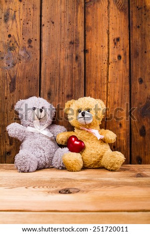 Valentine Teddy Bears. - stock photo