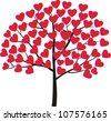 Valentine tree for you - stock vector