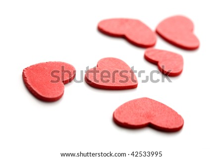 Valentine written in coloful heart decorations