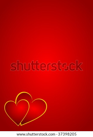 valentines background with hearts