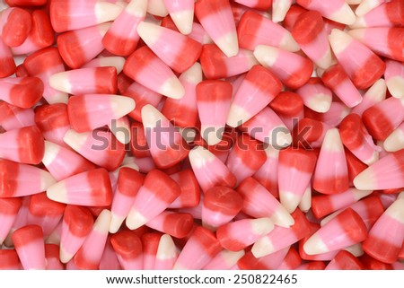 valentines candy corn background - stock photo