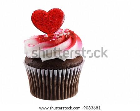 Valentines cupcake - stock photo