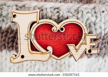 Valentines Day background with love red heart. - stock photo