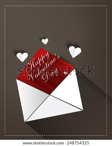 Valentines Day card - stock photo