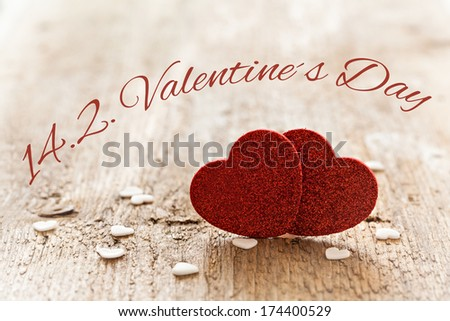 valentines day card with text - stock photo