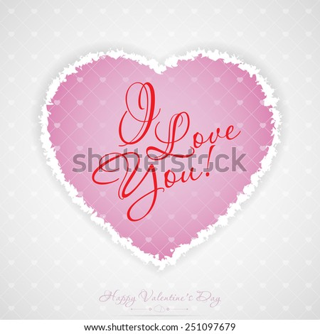 Valentines Day Greeting Card with Pattern - stock photo