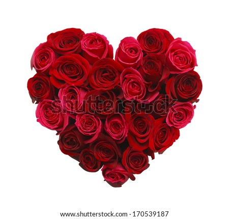 valentines day heart made red roses stock photo 170539187, Ideas