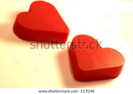 Valentines Day Hearts red. - stock photo