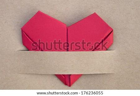 Valentines day postcard, heart, love - stock photo