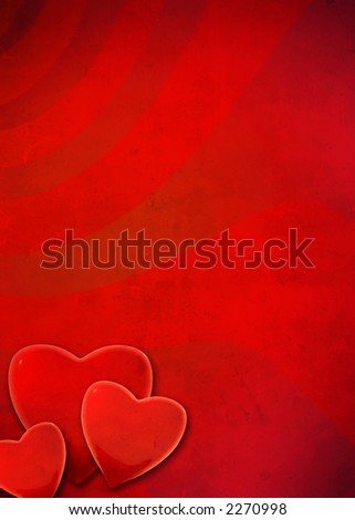 valentines grunge background - stock photo