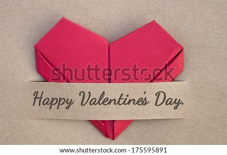 Valentines postcard,heart, red heart, Happy valentines, love you, I love you - stock photo