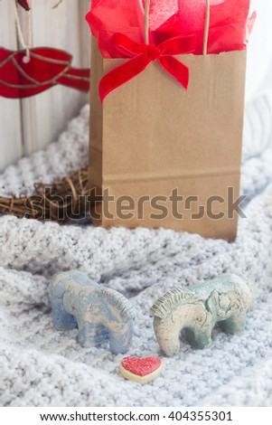 Valentines's Day gift - stock photo