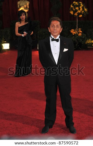 Valentino at the 81st Academy Awards at the Kodak Theatre, Hollywood. February 22, 2009  Los Angeles, CA Picture: Paul Smith / Featureflash