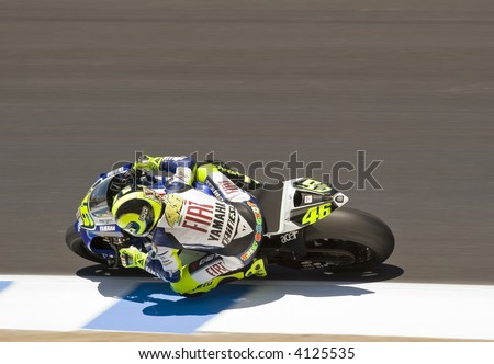 Valentino Rossi in Laguna Seca Moto GP 2007 - stock photo