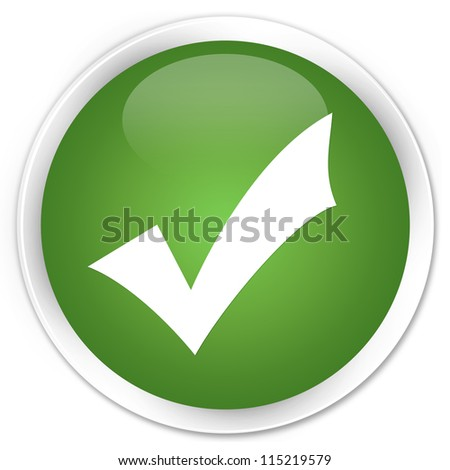 Validate icon green button - stock photo