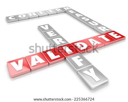 Validate Word On 3 D Letter Game Stock Illustration 225366724 ...