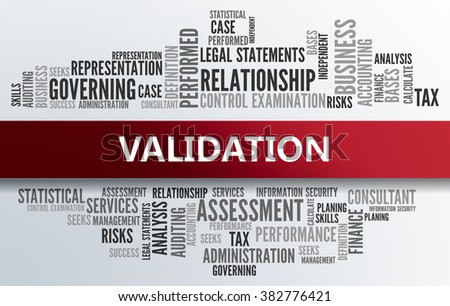 VALIDATION | Business Abstract Concept - stock photo