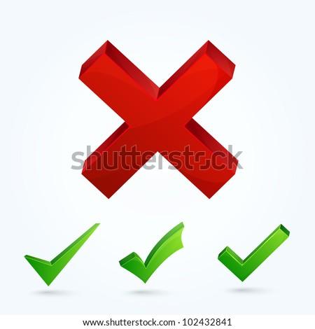 Validation icons set - stock photo