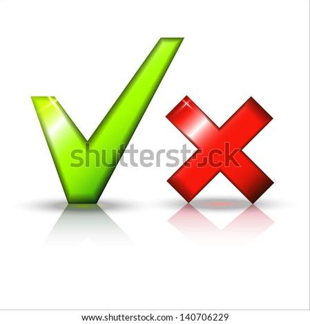 Validation icons set. - stock photo