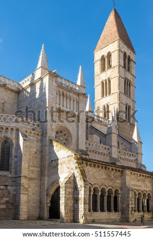 VALLADOLID, SPAIN - NOVEMBER 7, 2016: Santa Maria de La Antigua church in Valladolid, Spain