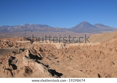 Valle de la Luna (Moon valley) near San Pedro de Atacama in North Chile