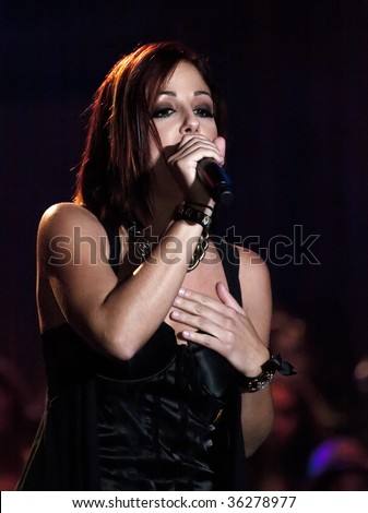 VALLETTA, MALTA - AUG 29 - Ira Losco performing during the Michael Jackson Tribute Concert organised by Xfm radio station at The Valletta Waterfront 29th August 2009