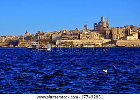 Valletta skyline, Malta - stock photo